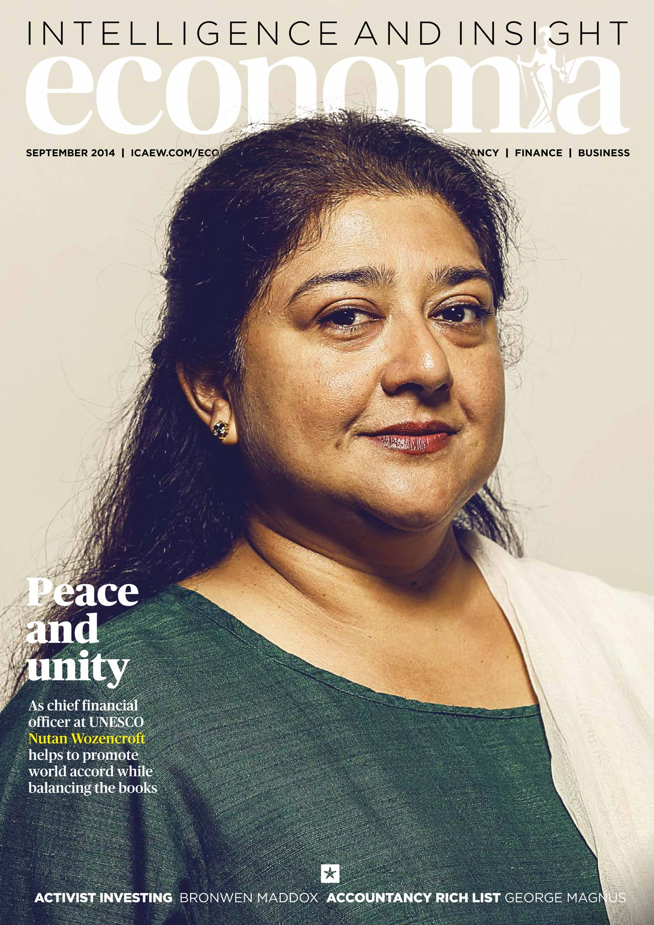 For Economia - Chief Financial Officer of UNESCO, Nutan Wozencroft.