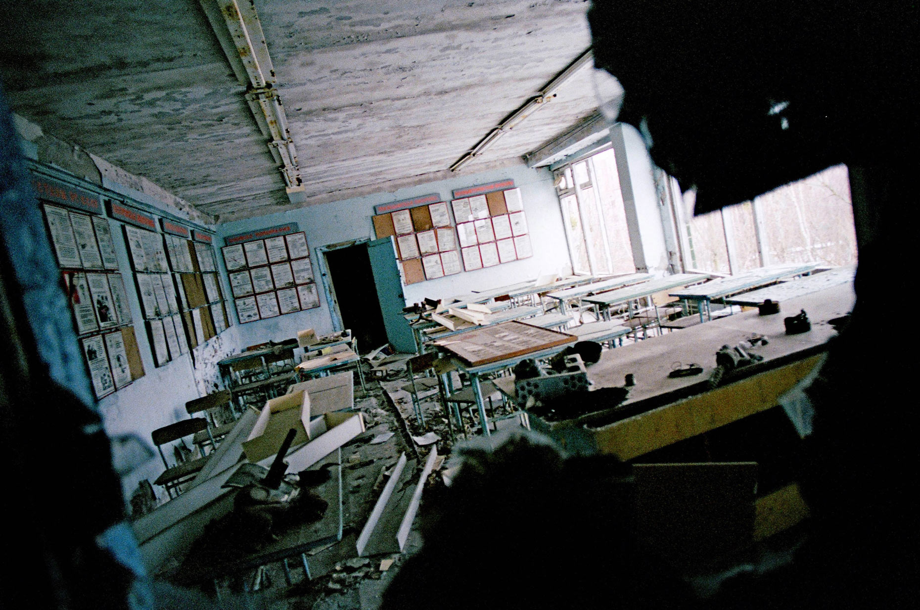 School class room, Prypiat, Ukraine.