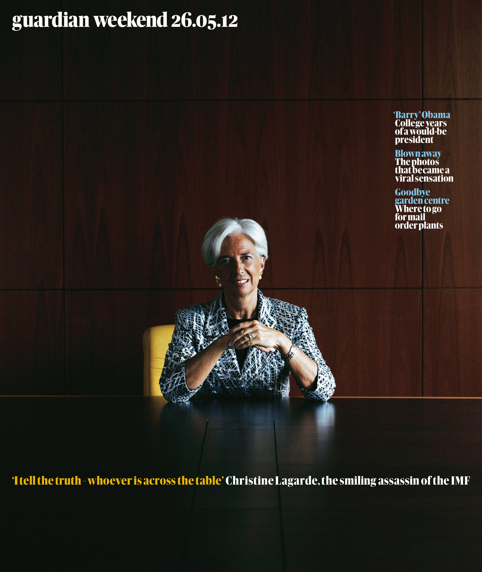 For the Guardian Week End Magazine - Christine Lagarde Managing Director of the International Monetary Fund