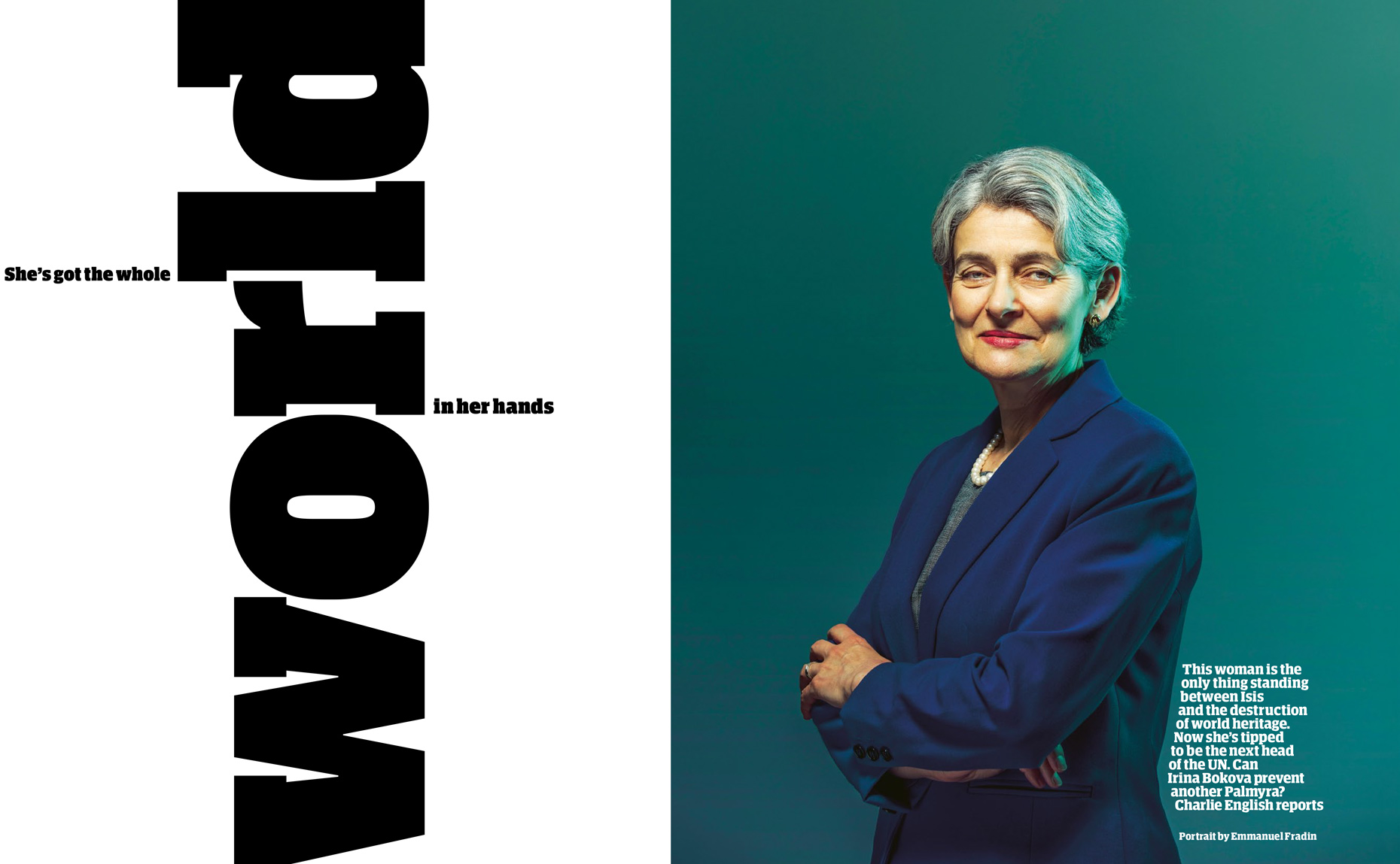 Commissioned For The Guardian Weekend Magazine - UNESCO Director-General Irina Bokova
